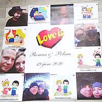 Плакат на свадьбу Love is... 1000х1500 см, фото 1