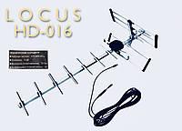 Антенна эфирная DVB-T2 Locus HD-016 (11 дб) 15м кабель 0,87м ПАССИВНАЯ