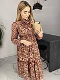 Платье для лета из шифона с длинным рукавом длина миди 6 цветов р.42,44,46,48  Код 830Г, фото 10