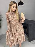 Платье для лета из шифона с длинным рукавом длина миди 6 цветов р.42,44,46,48  Код 830Г, фото 7