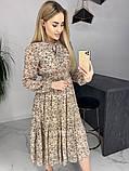 Платье для лета из шифона с длинным рукавом длина миди 6 цветов р.42,44,46,48  Код 830Г, фото 8