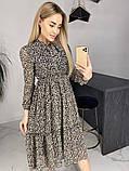 Платье для лета из шифона с длинным рукавом длина миди 6 цветов р.42,44,46,48  Код 830Г, фото 4