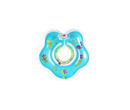 Детский надувной круг-воротничок для плавания TM KINDERENOK, ПВХ Sea голубой, 201319-1