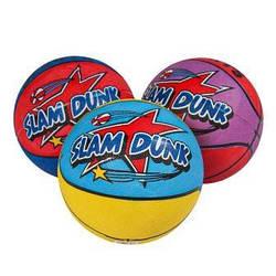 М'яч баскетбольний, гумовий, 3 кольори, BT-BTB-0020