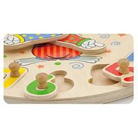 """Развивающая игрушка-пазл Viga Toys """"Часы"""" (56171)"""