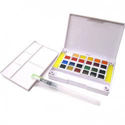 Краски акварельные 24 цвета, с кисточкой, Joyko, 2001-WC