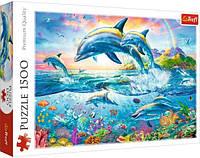 """Пазлы Trefl """"Дельфины"""", 1500 элементов, 26162"""