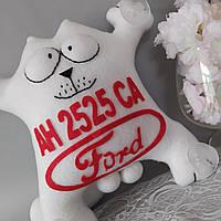 """Іграшка в машину """"Кіт Саймона"""" Ford номерний знак 32 см"""