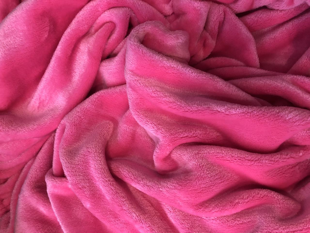 Плед 190 * 120 , яскраво рожевий