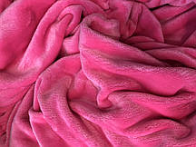 Плед 100*160, ярко розовый