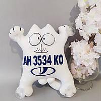 """Игрушка в машину """"Кот Саймона"""" Lada номерной знак 32 см"""