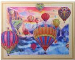 """Н-р д/творч.-картина из фигурн. страз 5D """"Воздушн. шары"""" 40*50см, в кор. //"""