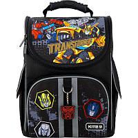 Рюкзак школьный каркасный ортопедический Kite Education 501-1 Transformers, для мальчиков, черный