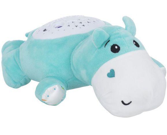 Мягкая музыкальная игрушка Бегемот с проектором Funmuch