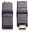 Поворотний кутовий з'єднувач перехідник адаптер HDMI F to HDMI M (на 360 градусів), фото 2