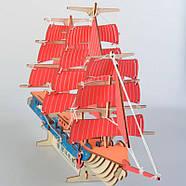 Деревянный пазл 3D - Парусное спортивное судно, фото 3