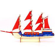 Деревянный пазл 3D - Парусное спортивное судно, фото 4