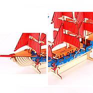 Деревянный пазл 3D - Парусное спортивное судно, фото 5