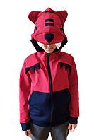 Свитшот\кофта детская EVA бордово-бурый + темно-синий 110 см