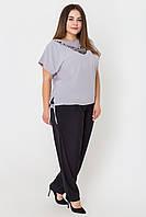 ✔️ Летний штапельный костюм Лали большого размера 54-62 серый