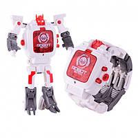 Детская игрушка Robot Watch часы робот трансформер 2 в 1 White | Дитяча іграшка Робот Вотч