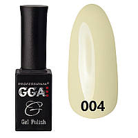 Гель-лак №004 GGA Professional,  (жемчужно-серый, эмаль)
