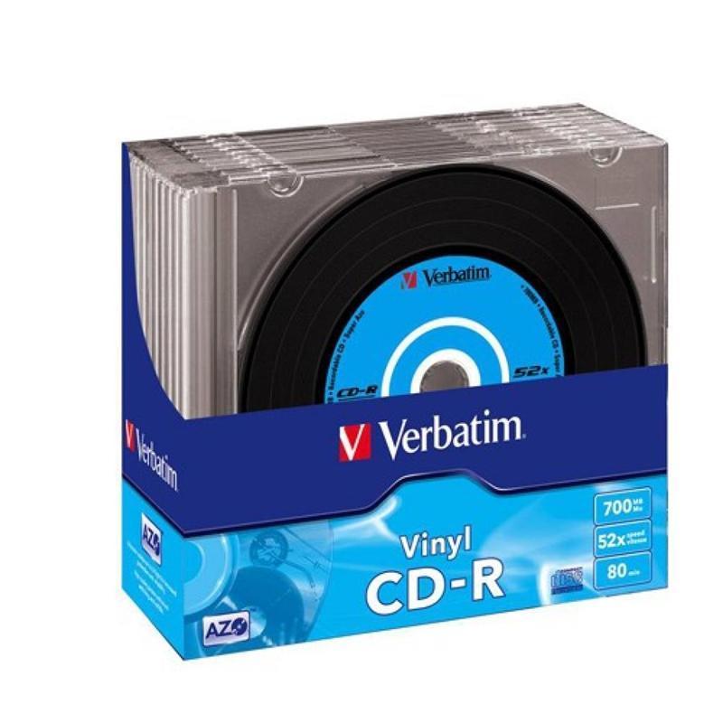 CD-R Verbatim (43426) 700MB 52x Slim, 10шт Vinyl