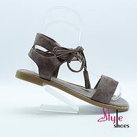 Женские босоножки на греческой шнуровке
