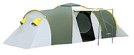 Палатка туристическая 8-ми местная с тамбуром Presto Nadir 8 зеленая