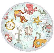 Пляжный коврик из микрофибры Подводный Мир