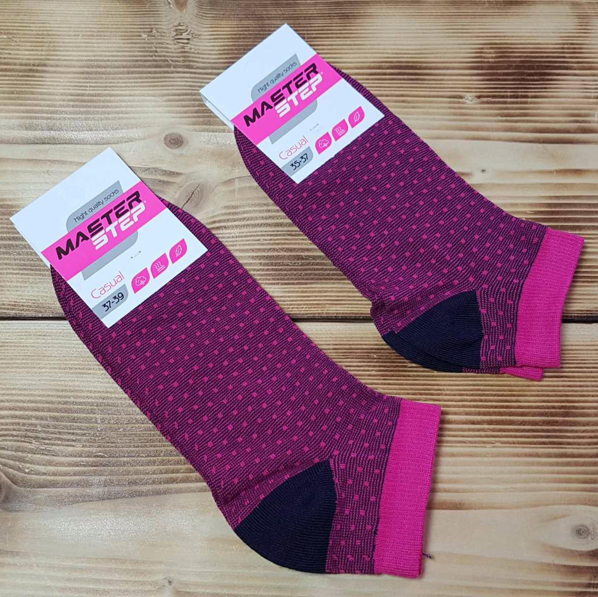 Шкарпетки укорочені малинові, розмір 25 / 37-39р.
