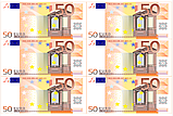 Вафельная картинка Доллары/Евро  | Съедобные картинки Деньги | Деньги вафельные картинки Формат А4, фото 2