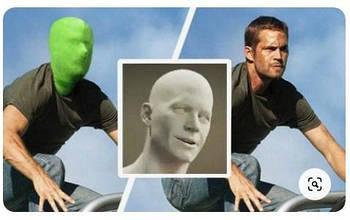 Зеленая маска-балаклава хромакей (Green Chromakey ) FST Chroma key