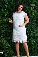 Женское летнее платье белого цвета гипюр высшего качества, фото 1