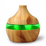 Увлажнитель воздуха Humidifier с ароматизацией и подсветкой, зарядкой от USB,  200 мл светлое дерево, фото 3