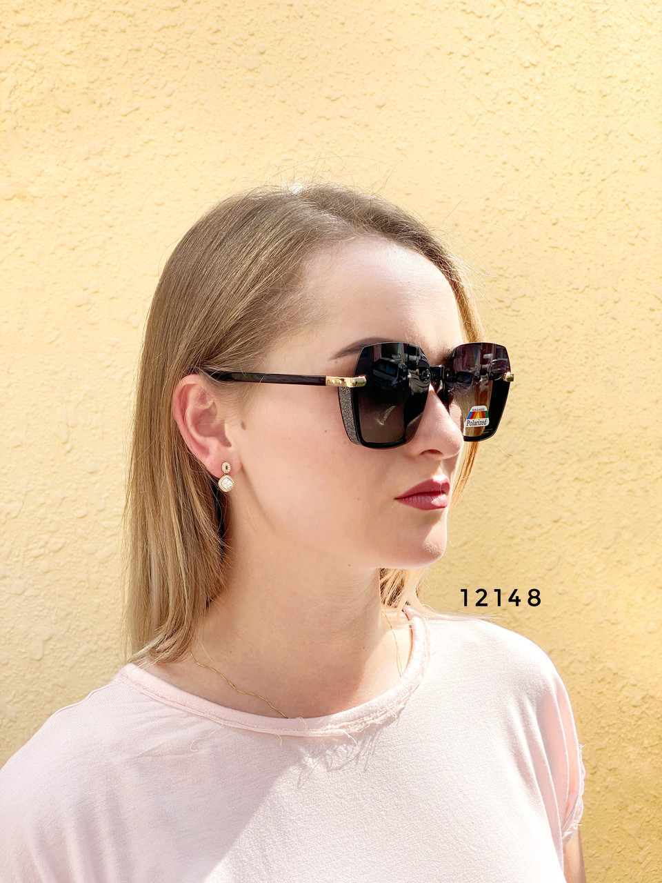 Стильные черные солнцезащитные очки линза polarized