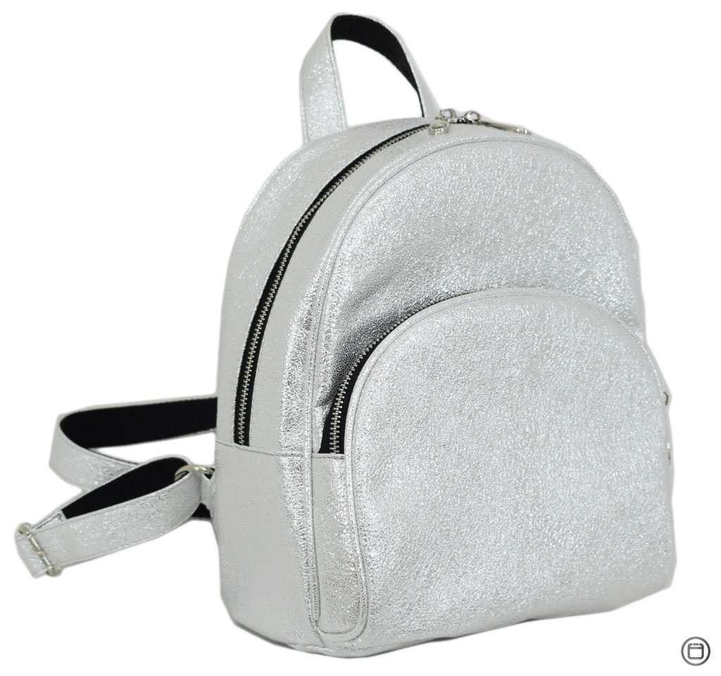 Женский городской рюкзак Case 652 серебро светлое