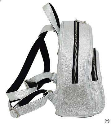 Женский городской рюкзак Case 652 серебро светлое, фото 2