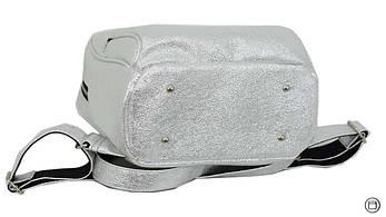 Женский городской рюкзак Case 652 серебро светлое, фото 3