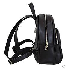 Женский городской рюкзак Case 652 черний шоколад, фото 2