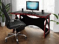Компьютерный стол Rimos Feel the Game - СПАРТАК, геймерский стол Black-Red (VHX-001)