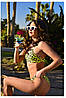 Трендовый женский яркий раздельный купальник с леопардовым принтом, фото 3