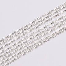 Цепочка шариковая для украшений 1,2 мм, светлое серебро., фото 3