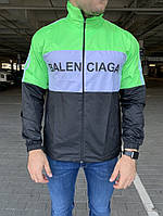 Ветровка Balenciaga Logo Reflective Zip-Up Neon Green