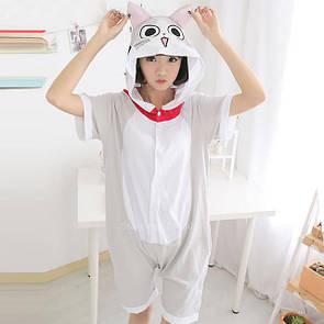Пижама летняя кигуруми Взрослые и Детские котенок