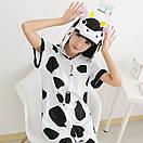 Пижама летняя кигуруми Взрослые и Детские коровка, фото 3