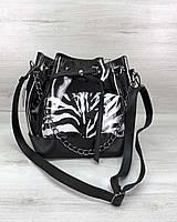 2в1 Молодежная сумка WeLassie Люверс силикон с черным