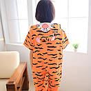 Пижама летняя кигуруми Взрослые и Детские тигр, фото 2