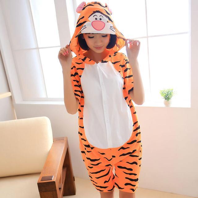 Пижама летняя кигуруми Взрослые и Детские тигр