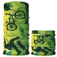 Велосипедный бафф маска Tube лаймовый